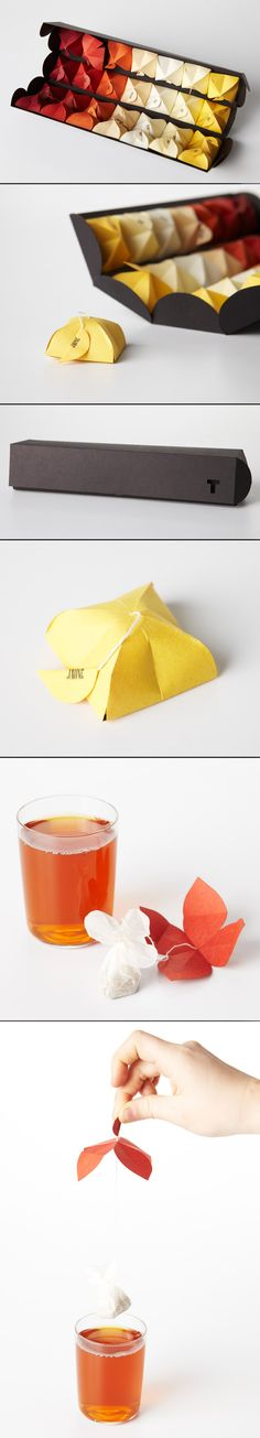 """T"", tea packaging designed by Maria Milagros Rodriguez Bouroncle."