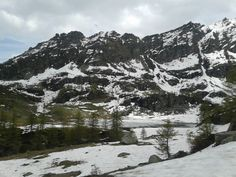 Lake Dres, still partially covered by ice, in rapid melting. It was pretty nice, with several fishes inside. Few days later, there was the massacre of all fishes inside. (lago Dres, near Ceresole Reale, Alps)