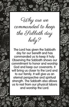 """""""Love this handout.  I would add:  Pass it out to each YW.  Tell them they only have enough ink in their pen to underline 3 words.  Play a song and when the song is over - have them share what they underlined and why.  Another idea:  Up on the board:  How would you explain what the Sabbath Day is and Why we honor it to a non member.  Give them a few minutes to write their response.  Discuss"""