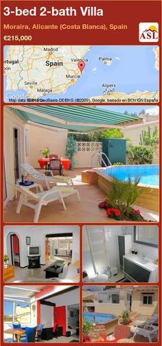 3-bed 2-bath Villa in Moraira, Alicante (Costa Blanca), Spain ►€215,000 #PropertyForSaleInSpain