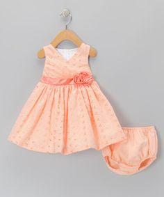 Gerson & Gerson Orange Gingham Dress & Diaper Cover - Infant by Gerson & Gerson #zulily #zulilyfinds