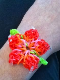 Rainbow Loom Patterns Hibiscus Flower Rainbow Loom Pattern Rainbow Loom Patterns Rainbow Loom Rainbow Loom Creations