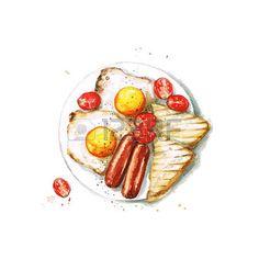 Desayuno - acuarela Food Collection photo