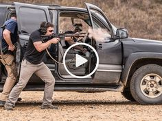 MARSOC Special Forces Doing the Tactical Driving and Shooting Course