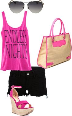 I love pink and black!, created by meagandullack