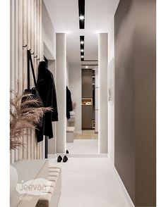 Entrance Decor, House Entrance, Corridor Design, Interior And Exterior, Interior Design, Shop Front Design, Modern Minimalist, Mudroom, Storage Spaces