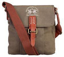 Bag messenger shoulder strap La Martina Man Woman Men leather e fabric