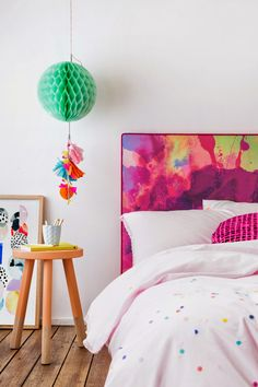ChicDecó: | Watercolour bedheads for bedrooms