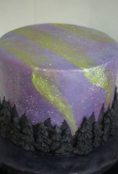 northern lights cake By alek0 on CakeCentral.com