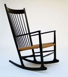 Hans J. Wegner Rocking Chair J16 FDB Mobler. Modern online gallery. Featuring a varied selection of vintage furniture and architect furniture. At http://www.furniture-love.com/vintage/furniture/