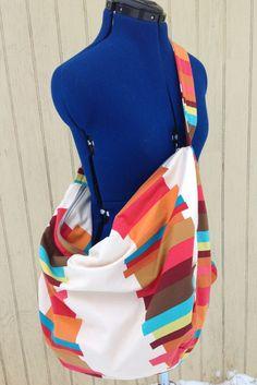 Rainbow Slouchy Bag Duffel bag Overnight by MissyMitchellDesigns, $75.00