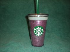 DIY sparkly Starbucks cup! Easy and fabulous