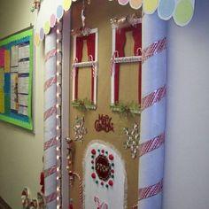 Door decoration for Christmas