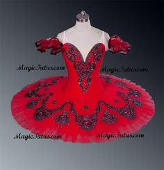 Classical Ballet Tutu Professional Competition Red Black Age 10 Adult in Stock | eBay