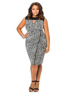 Piped Side Ruched Dress Piped Side Ruched Dress  Ashley Stewart 'Ohh girl!'