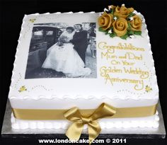 50th Anniversary Decorations, 50th Wedding Anniversary Cakes, Girlfriend Anniversary Gifts, Golden Anniversary, 25th Wedding Anniversary, Anniversary Parties, Anniversary Ideas, Wedding Cakes, Birthday Gifts For Bestfriends