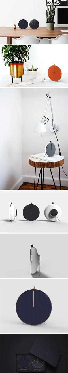 Why shouldn't your clock be a speaker and vice versa?! That's the idea behind Playtime – a hybrid analog clock/Bluetooth audio player. With its oversized alarm-clock aesthetic and polished finishes, it's almost unrecognizable as a speaker and that's precisely its appeal. Even its needle is a disguised digital music playback bar, indicating the duration of the music.