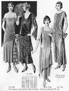 the second from the left, love the 2 fabrics, asymmetry