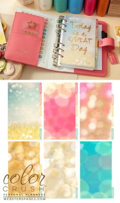 Looking forward to seeing more about these Webster Planners....Personal Planner Kit : Light Pink - Personal Planner Kits - Color Crush Planners