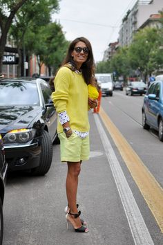 Viviana Volpicella in milan fashion week