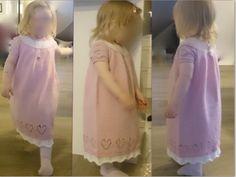 Ravelry: Viljas Bursdagskjole pattern by Lena Stølås Types Of Yarn, Knit Patterns, Ravelry, Flower Girl Dresses, Knitting, Wedding Dresses, Baby, Design, Fashion