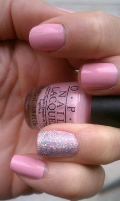 Delicate Pink Nails