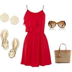 I look amazing in red ❤ this is perfect for the first day of school