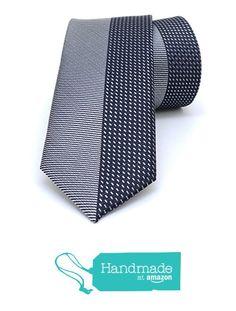 "Grey and black dotted men's tie 6 cm (2,36"") SL-127 from Nazo Design… #handmadeatamazon #nazodesign"