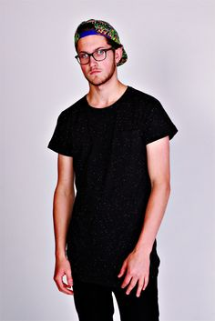Tall Tees Cø Longline T-Shirt With Neppy Effect