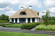 Thatched Roof, Cottages, Luxury Homes, Gazebo, House Plans, Villa, Exterior, House Design, Outdoor Structures