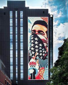 "Shepard Fairey, ""American Rage"" in South Lake Union, USA, 2020 Shepard Fairy, South Lake Union, Art Base, Street Artists, Graffiti Art, Urban Art, Pop Art, Gallery, Painting"