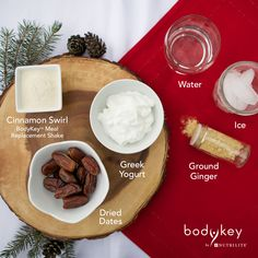 This BodyKey Sticky Date 'N' Cinnamon Shake recipe from Chef Jason Roberts is a great snack or meal choice this holiday season!