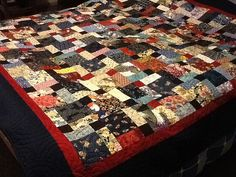 Japanese disappearing nine patch quilt.