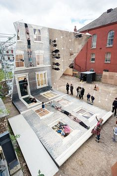 Argentine artist Leandro Erlich Dalston House Illusionary Images