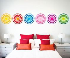 Circle Burst Wall Sticker Color Set
