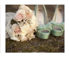 """The shoes and the bouquet. The shoes will be my """"something blue."""""""
