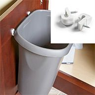 Way to attach garbage can to cabinet door - or maybe a storage basket.