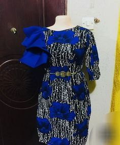 Beautiful, Classic But Simple Ankara Styles For You Short African Dresses, Ankara Short Gown Styles, Latest African Fashion Dresses, African Print Dresses, African Print Fashion, Africa Fashion, African Attire, Couture, Ankara Skirt