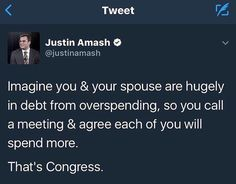 """Morons...  Political.Ridicule (@political.ridicule) on Instagram: """"Oh cmon @justinamash It's only $20 trillion!  Live a little! ⬇⤵ —PARTNERS—  @libertarian_dudes…"""""""