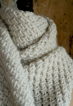 Super Soft Merino Snowflake Scarf - The Purl Bee - Knitting Crochet Sewing Embroidery Crafts Patterns and Ideas!