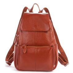 54.60$  Buy here  - New fashion high quality women travel backpacks made by genuine leather school bags for girl cowhide shopping shoulder bags