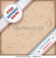 Vintage independence day background design with brown colors and US-Flag. Eps 10 vector file.