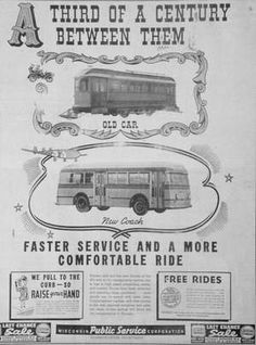 This ad for Wausau's new bus system ran in the Wausau Daily Record-Herald on Jan. 10, 1940.