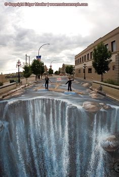 3D Paintings on the Street by Edgar Muller