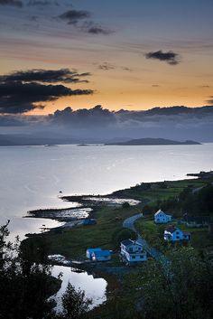 late summer night, Tennevik in Troms, Norway