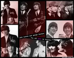 John Lennon and George Harrison collage
