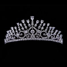 Graff Yellow and White Diamond Tiara imitation, with all clear stones. [Ebay: seperwar] https://www.graffdiamonds.com/#/jewels/category/unique/hair-jewels/jewel/yellow-white-diamond-tiara