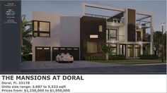 PARADISE LUXURY PROPERTIES: THE MANSIONS AT DORAL IN DORAL NEW HOMES FOR SALE