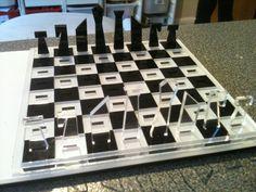Laser Cut Chess Set - Instructions link... great KS4 project idea/product design