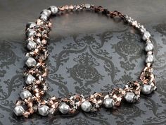Glitz-n-Glam  Crystal Rose Gold Necklace, Inspirational Idea at Artbeads.com